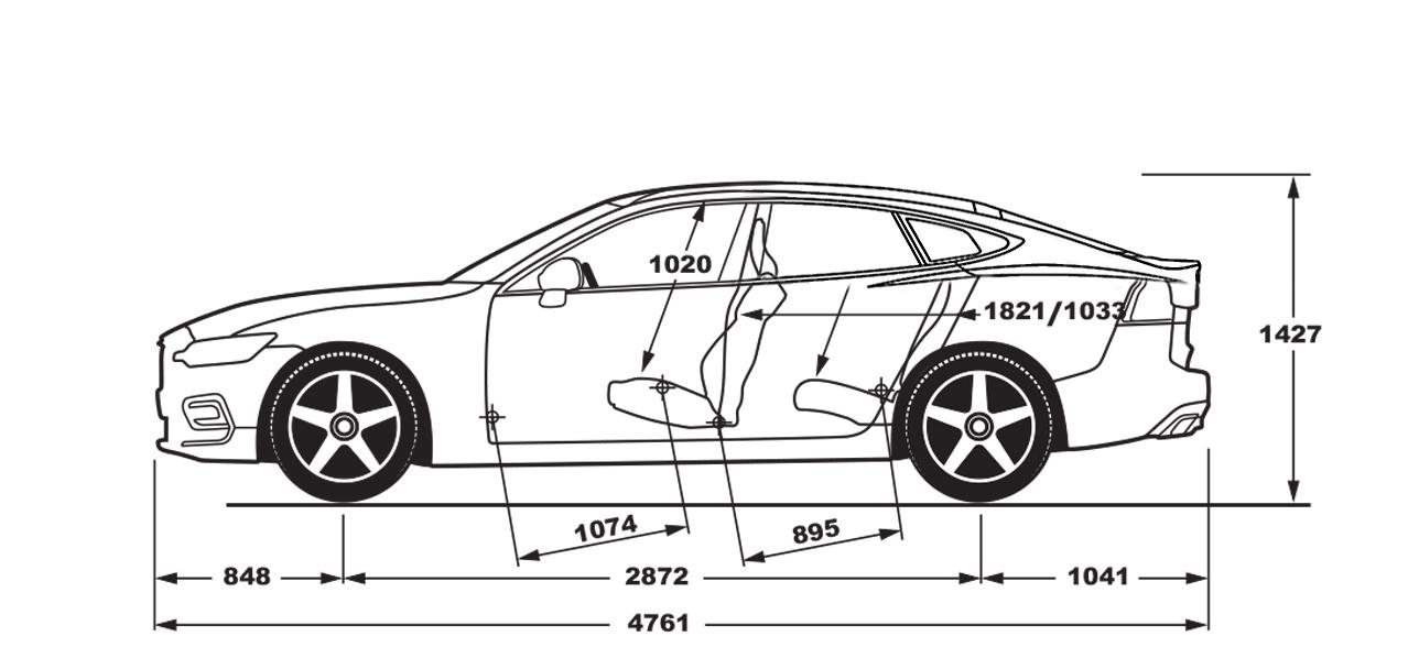 Volvo V60 Tesla Model S Blueprint1288x608 145 KB
